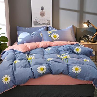 棉加绒四件套A版全棉130*70  B版190克水晶绒 1.5m(5英尺)床 阳光花房