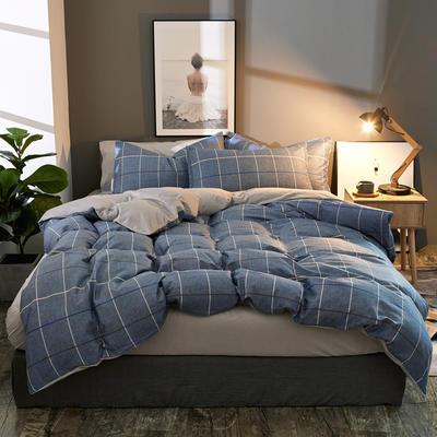 棉加绒四件套A版全棉130*70  B版190克水晶绒 1.5m(5英尺)床 莱克维尔