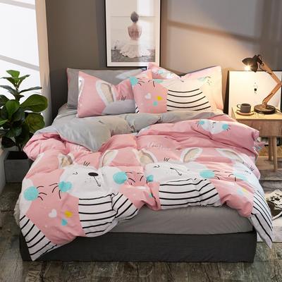 棉加绒四件套A版全棉130*70  B版190克水晶绒 1.5m(5英尺)床 俏皮物语