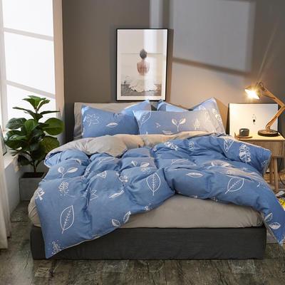 棉加绒四件套A版全棉130*70  B版190克水晶绒 1.5m(5英尺)床 清风解语