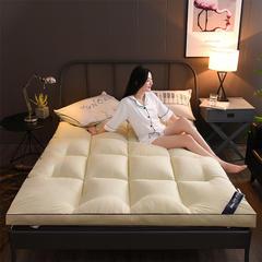 2018新款加厚10cm立体双边加麻绳羽丝棉床垫 0.9*2.0m 暖黄