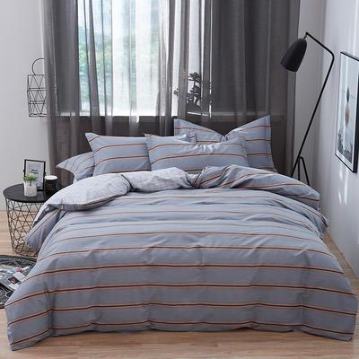 罗优家纺 春夏新款13372全棉活性印花四件套 1.2m(4英尺)床 时尚秀场