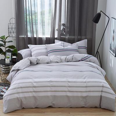 罗优家纺 春夏新款13372全棉活性印花四件套 1.2m(4英尺)床 时尚秀场-咖