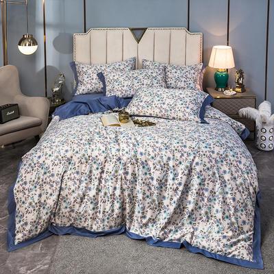 2020新款水洗天丝棉绸四件套 1.5m床单款 花房