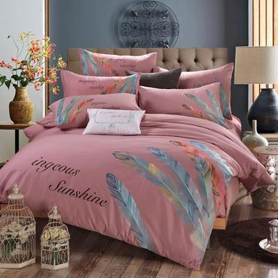 罗优家纺全棉刺绣绣花四件套田园风被套床单床上用品 竹韵 1.5m(5英尺)床 婀娜