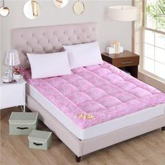 2018新品  羽丝绒床垫立体床垫软床垫 100x200cm 凤尾花-粉色