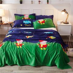 卡通法莱绒毛毯法兰绒毯子珊瑚绒毛毯礼品毯小毛毯【有同款:法莱绒四件套 被套  枕套 70X100cm【随机花色】 遨游太空