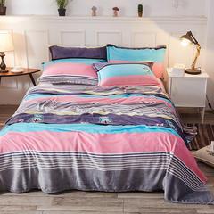 爆款2018新品 卡通法莱绒毛毯法兰绒毯子珊瑚绒毛毯礼品毯小毛毯【有同款:法莱绒四件套 被套  枕套 180X230cm 英伦风尚