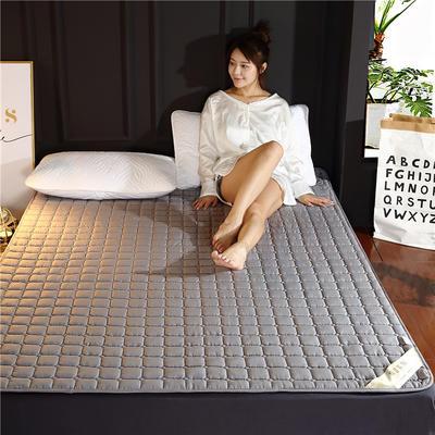2019新款 保暖可機洗磨毛床墊 舒適薄床墊 100X200cm 紫色