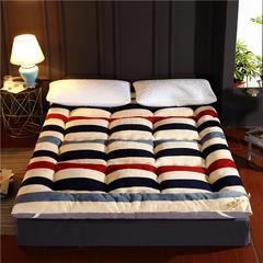 加厚印花法莱绒羽丝绒床垫 90x200cm 品味生活