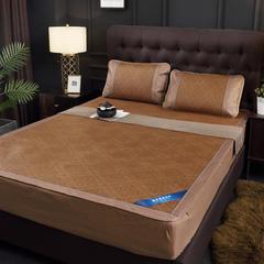 2019爆款 床笠款藤席三件套可折叠冰丝凉席三件套冰丝席 1.5m(5英尺)床 菱形-床笠款