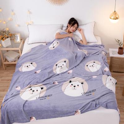 2019爆款 法萊絨毛毯雪花絨毛毯法蘭絨毛毯禮品毯小毛毯贈品毯 枕套一只可配對應花色 抱抱熊