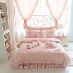 2015年款-韩版全棉四件套-樱桃公主(带纱款) 床头柜罩 樱桃公主
