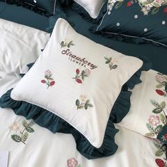 2018新款-60s贡缎长绒棉高端刺绣四件套——小莓莓 1.5m(5英尺)床 抱枕(50*50cm)