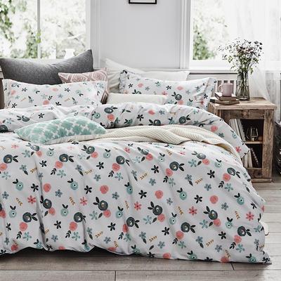 2020新款40支全棉印花四件套 0.9-1.2m床單款三件套 花朵