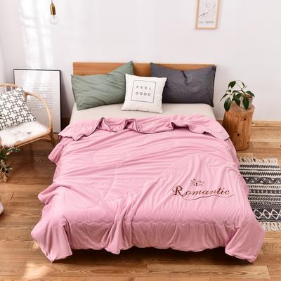 2020新款针织夏被 单品夏被150x200cm 粉色