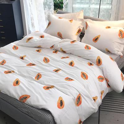 2020新款40支全棉印花四件套 0.9-1.2m床单款三件套 觅香果