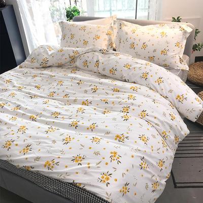 2020新款40支全棉印花四件套 0.9-1.2m床单款三件套 阳光花苑