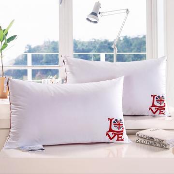 A(01)英伦风love羽丝枕  枕头 枕芯