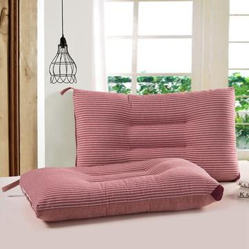 凯罗枕芯 【16-4】 条纹水洗枕红