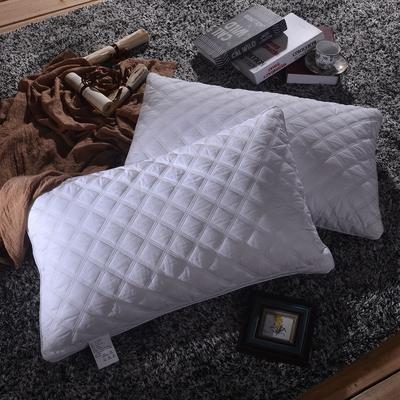 凯罗家纺 【16-8】方格水洗羽丝枕 可水洗枕芯 天猫爆款同款 【16-8】方格水洗羽丝枕