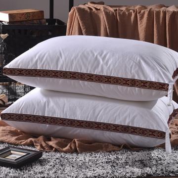 凯罗枕芯16-9镶边水洗枕-l咖
