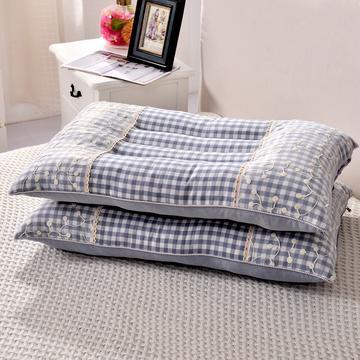 凯罗枕芯16-11欧式蕾丝水洗枕-蓝