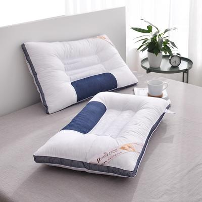 C(01) 立体蓝边决明子枕 (48*74cm)枕头 枕芯 立体蓝边决明子枕