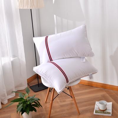 凯罗A(11)酒店羽丝绒枕 可水洗枕芯 枕头 全棉枕芯 双针彩边枕