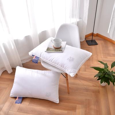 A(12) 烫钻皇冠枕芯 酒店羽丝枕 可水洗枕芯  枕头 烫钻皇冠枕