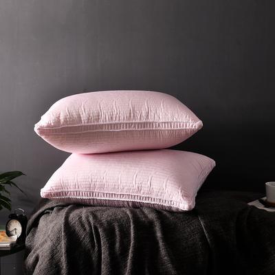 A(13)  天丝绗绣羽丝枕   枕头 枕芯  (48*74cm) 粉