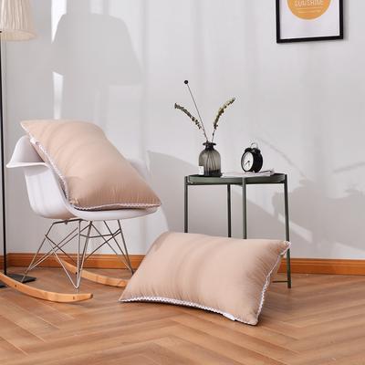 A(22) 花边水洗枕 (45*73cm) 枕头 枕芯 驼