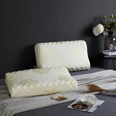 凯罗家纺泰国进口天然乳胶枕芯护颈狼牙颗粒成人枕头(送内外套) 款一