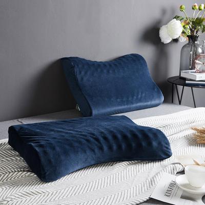 凯罗家纺泰国进口天然乳胶枕芯护颈狼牙成人枕头 男士护颈枕(送内外套) 碟型狼牙乳胶枕