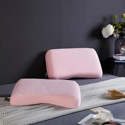 凯罗家纺泰国进口天然乳胶枕芯护颈狼牙成人枕头 女式护颈枕(送内外套) 碟型美容乳胶枕
