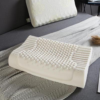 凯罗家纺泰国进口天然乳胶枕芯护颈狼牙颗粒成人枕头(送内外套) 款二