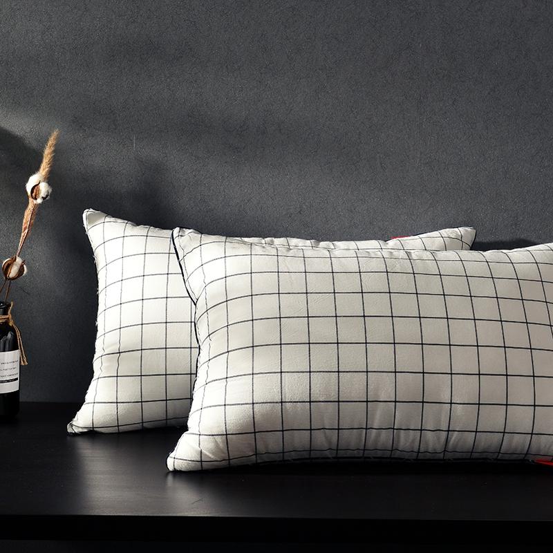 凯罗新品 日式水洗枕  软枕 可水洗枕芯(格调黑)