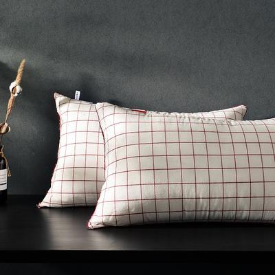 凯罗新品 日式水洗枕  软枕 可水洗枕芯(格调红) 格调红