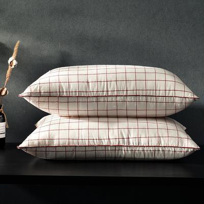凯罗新品 日式水洗枕  软枕 可水洗枕芯(格调黑) 格调红