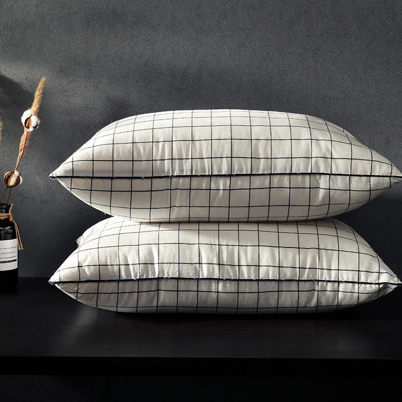凯罗新品 日式水洗枕  软枕 可水洗枕芯(格调红)