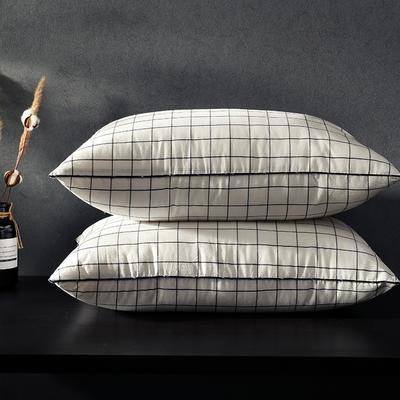 凯罗新品 日式水洗枕  软枕 可水洗枕芯(格调红) 格调黑