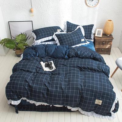 凯罗秋冬新品 水洗棉加绒保暖四件套 法莱绒四件套 水洗棉四件套 1.8m(6英尺)床 暖冬