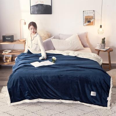 法莱绒羊羔绒毛毯 150*200cm 宝蓝