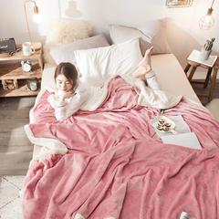 法莱绒羊羔绒毛毯 150*200cm 豆沙