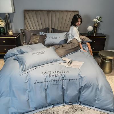 2020新款60长绒棉刺绣四件套—风格一 1.5m床单款四件套 海清