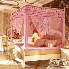迪凡保罗蚊帐 5827 外穿杆拉链坐床式蚊帐 120×200×170 不锈钢 粉红色