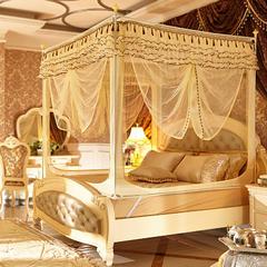 迪凡保罗蚊帐 5827 外穿杆拉链坐床式蚊帐 120×200×170 不锈钢 米黄色