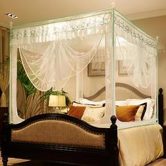 迪凡保罗 5829(铁艺烤漆U型拉链坐床蚊帐 不锈钢 铝合金支架) 1.5m(5英尺)床 白色-烤漆支架