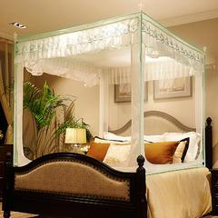 迪凡保罗 5829(铁艺烤漆U型拉链坐床蚊帐 不锈钢 铝合金支架) 1.8m(6英尺)床 白色-铝合金支架