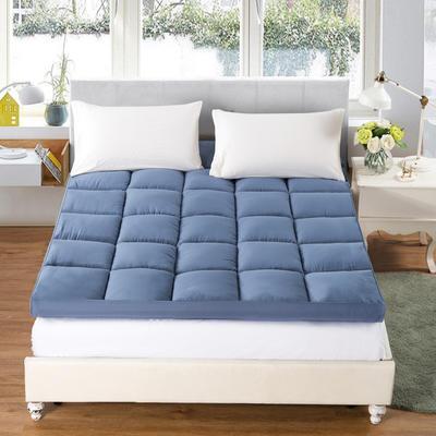 2019款床垫-纯色羽丝绒床垫 0.9*2.0 蓝色